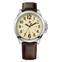 Tommy Hilfiger Watch Brown Leather Strap 1710298