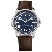 Tommy Hilfiger Men's Essential Brown Leather Strap Watch 1791375