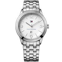 Tommy Hilfiger Men's Silver-tone Bracelet Watch 1710347