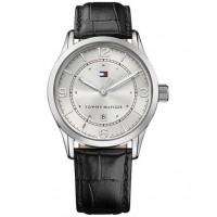 Tommy Hilfiger Men's Casual Sport Black Leather Strap Watch 1710331