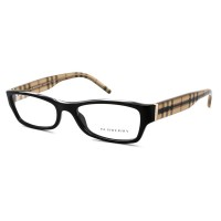 Burberry BE2094 Eyeglasses 3001 Shiny Black