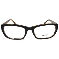 Prada PR 18OA NAI-101 Eyeglasses  Clear Top Blackmedium Havana