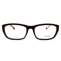 Prada PR 18OV DHO-101 Eyeglasses  Dark Brown