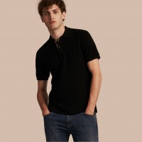 Burberry  Check Placket Modern Fit Polo Shirt