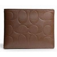 Coach Men Wallet F74531 Signature Coin