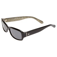 Kate Spade ADLEY/P/S  Black Glitter Polarized Women Sunglasses