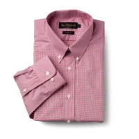 Allen Edmonds - Coral/Blue Graph Button Down Collar Dress Shirt