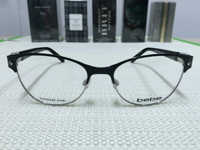 Bebe Eyeglass Frames 2015 : Bebe BB5069 illuminating 001 Jet Eyeglasses
